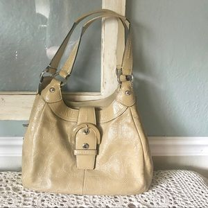 Coach SOHO Lynn Leather Signature Shoulder Bag